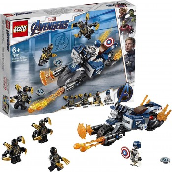 LEGO AVENGERS CAPITAN AMERICA ATAQUE DE LOS OUTRIDERS 76123