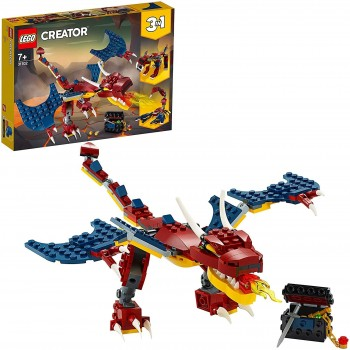 LEGO CREATOR 3X1 DRAGON LLAMEANTE 31102