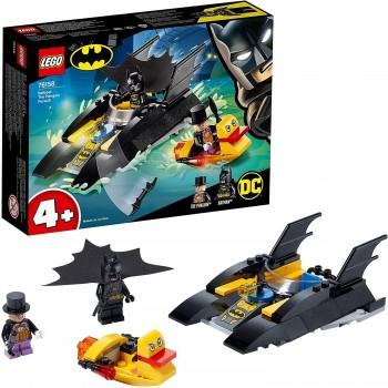LEGO BATMAN CAZA DEL PINGUINO EN LA BATLANCHA 76158