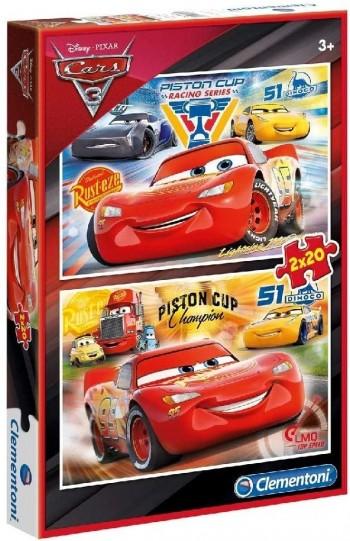 PUZZLE 2X20 PZAS CARS CLEMENTONI 07027