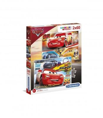 PUZZLE CARS 2X60 CLEMENTONI 07133