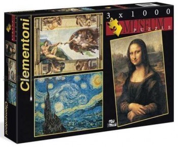 PUZZLES 3X1000 MUSEO CLEMENTONI