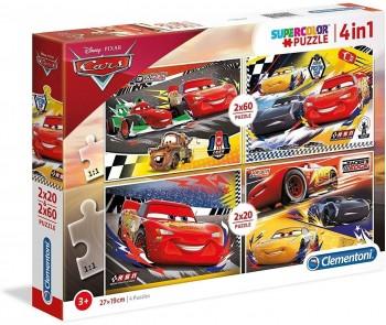 PUZZLE 2X60 2X20 PZAS CARS CLEMENTONI 21305