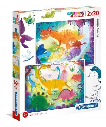 PUZZLE DINOSAURIO 2X20 CLEMENTONI 24755