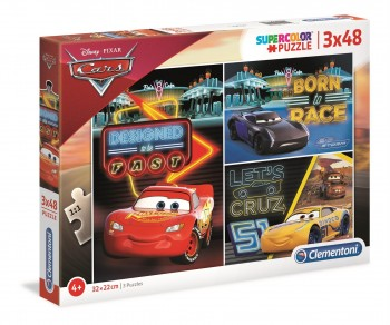 PUZZLE CARS 3X48 PZAS CLEMENTONI 25235