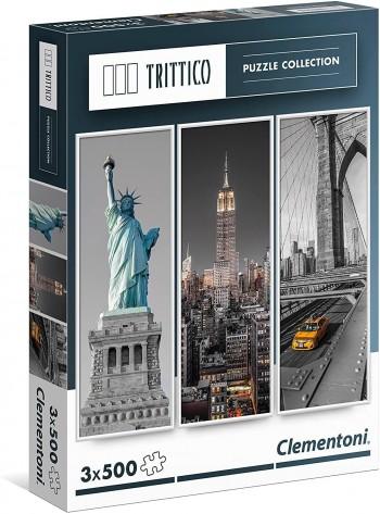 PUZZLE TRICTICO 3X500 NEW YORK CLEMENTONI