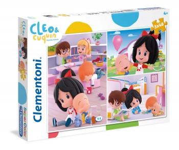 PUZZLE CLEO Y CUQUIN 3X48 CLEMENTONI REF-55264