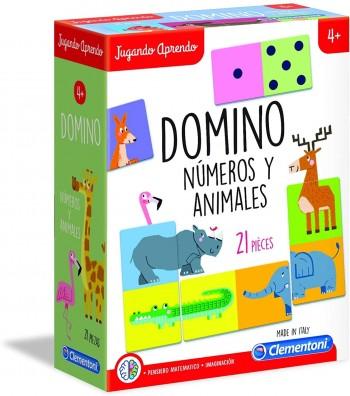 APRENDO DOMINO NUMEROS Y ANIMALES CLEMENTONI 55314