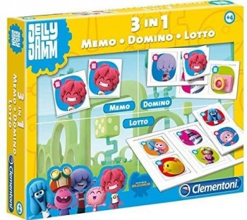 KIT 3-1 JELLY Y JAMM MEMO DOMINO LOTTO CLEMENTONI REF 65065
