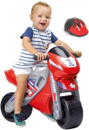 MOTO FEBER RACING ROJA CON CASCO FAMOSA 800008171
