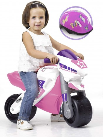 MOTO FEBER RACING ROSA CON CASCO FAMOSA 800008174