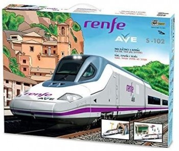 TREN AVE RENFE CON DESVIOS PEQUETREN 750