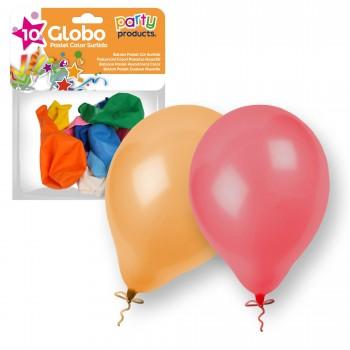 BOLSA 1O GLOBOS SURTIDOS PARTY REF-6800