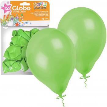 BOLSA 12 GLOBOS VERDE CLARO PARTY