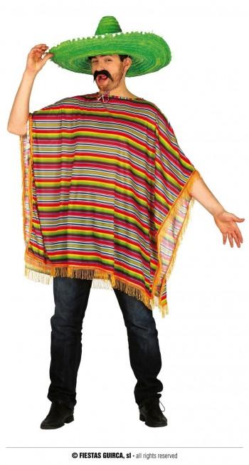 Z ONLINE DISFRAZ PONCHO MEXICANO ADULTO GUIRCA 88302