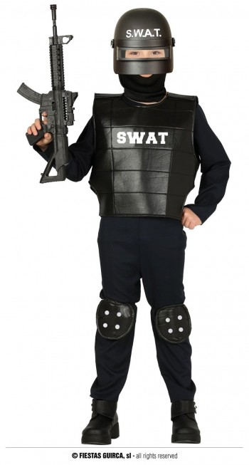 Z ONLINE DISFRAZ POLICIA SWAT INFANTIL GUIRCA 88494