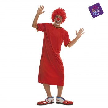 DISFRAZ PAYASO ROJO AD T-ML MOM 200557