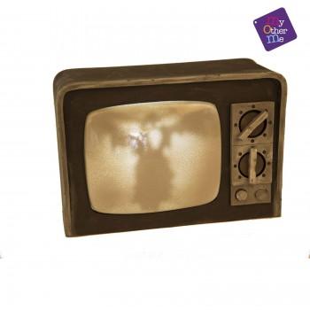 TELEVISION TERROR CON LUZ SONIDO 21X31X12CM MOM