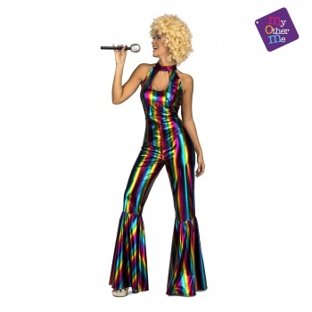 Z ONLINE DISFRAZ RAINBOW DISCO JUMPSUIT MUJER ADULTA MOM 205144