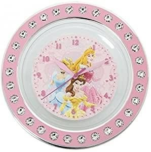 RELOJ PARED PRINCESAS DIAMANTES 25 CM