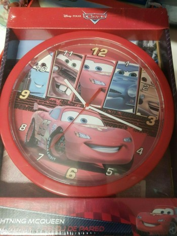 RELOJ PARED CARS 25 CM